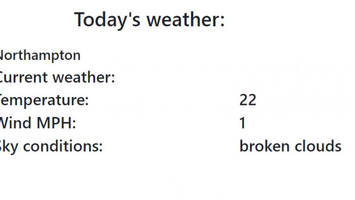 Weather app in JS